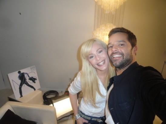 Ricky Martin se tira una foto con Luz