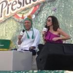 Jochy Santos y Miralba Ruiz
