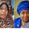 Tawakkul Karman y la presidenta de Liberia, Ellen Johnson Sirleaf