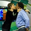 El beso de Yelitza y Correa