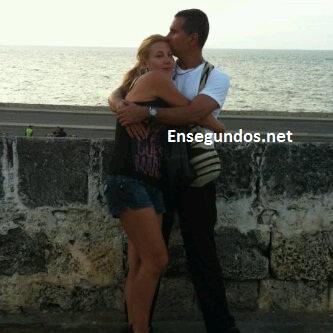 Carmen Elena Manrique  con Marlon Moreno El Capo