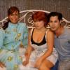 Chantal,  Georgina y una amiga