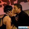 Zoila Luna y Daniel Sarcos beso