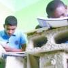 estudiantes en bloks