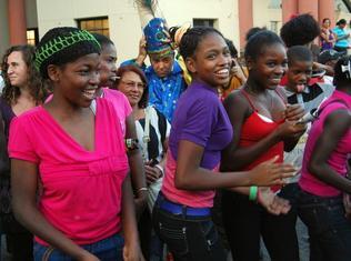 haitianas bailando
