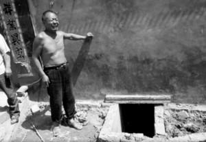 china desague alcantarilla pozo