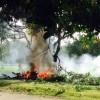 Avioneta quemada