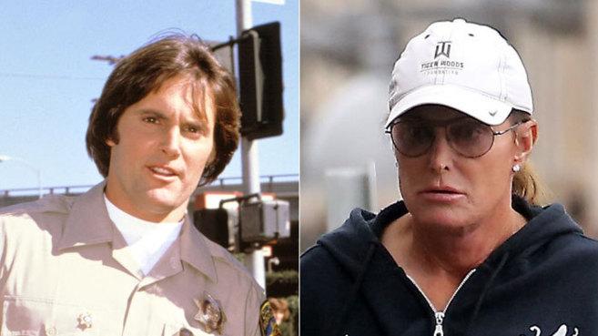 Bruce Jenner, en una imagen de los 70 (i) y actual
