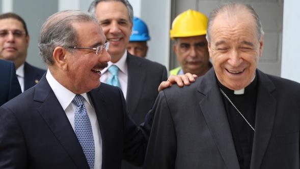 Danilo Medina y el Cardenal