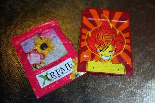 Paquetes de K2 o Spice, cannabis sintético, en Nueva York, el 5 de agosto de 2015 (GETTY IMAGES NORTH AMERICA/AFP | Spencer Platt)