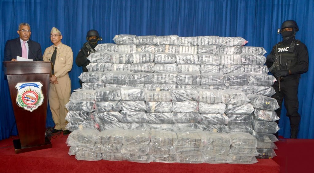 paquetes de droga