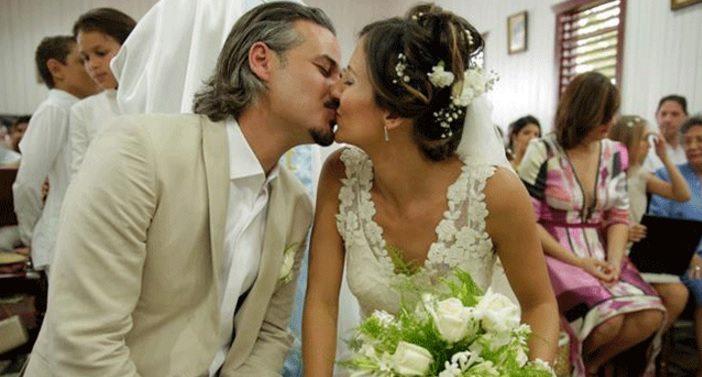 Frank Perozo y su esposa