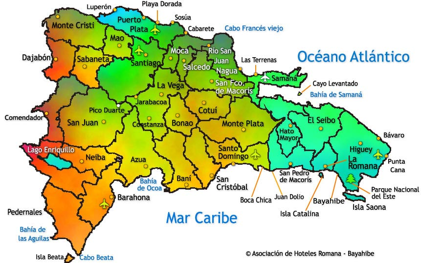 mapa republica dominicana RD mapa Noticias República Dominicana mapa republica dominicana