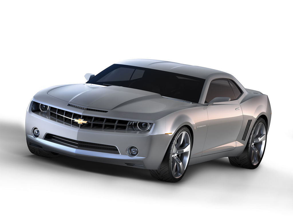 2006 Chevrolet Camaro Concept Vehicle - Digital Image Created from Math Data.