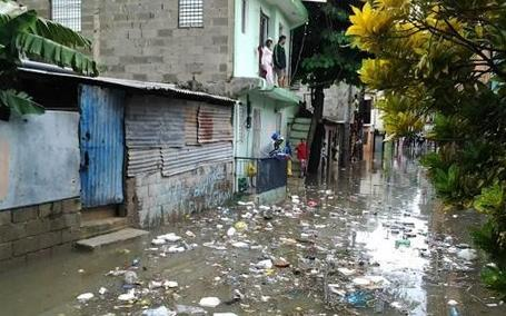 barrio inundado