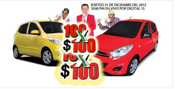 100 carros por 100 pesos