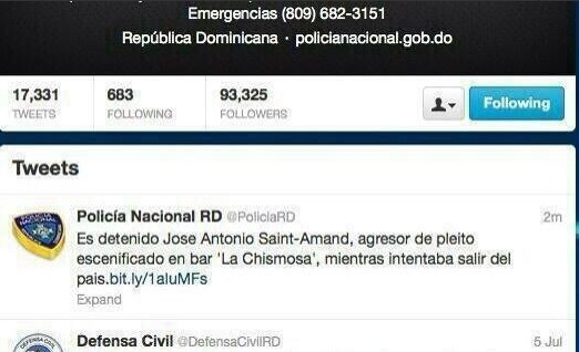 Policia Nacional twitter
